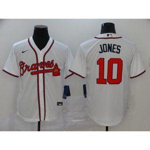 Atlanta Braves Chipper Jones White Jersey